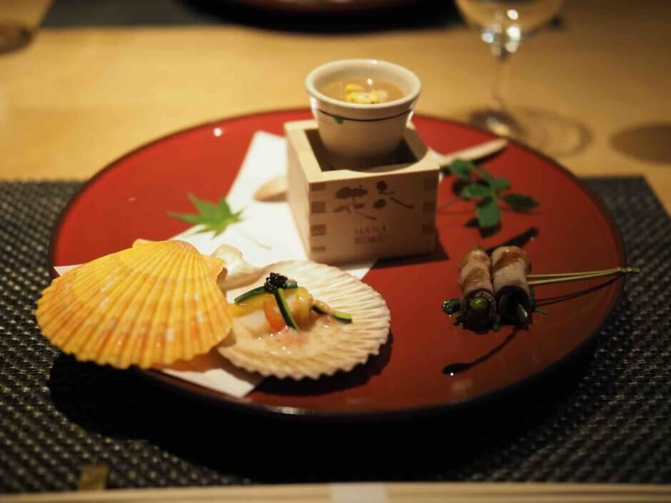 ホテルカンラ京都鉄板料理花六の先付3種